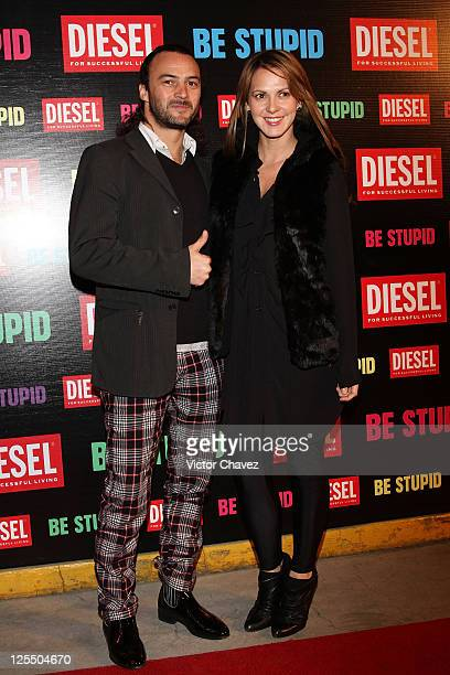 Actor Eduardo Arroyuelo and actress Ceci Ponce attends the Diesel Be Stupid Party at General Prim on December 2 2010 in Mexico City Mexico