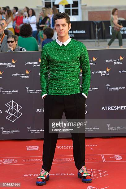 Actor Eduardo Casanova attends Nuestros Amantes premiere at the Cervantes Teather during the 19th Malaga Film Festival on April 30 2016 in Malaga...