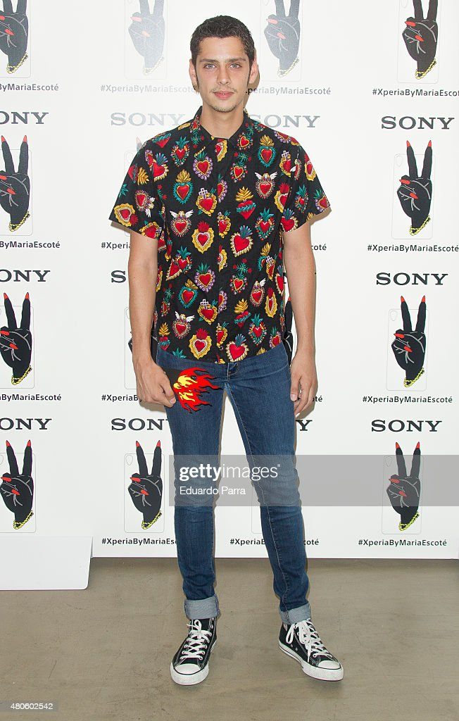 Actor Eduardo Casanova attends the Xperia by Maria Escote campaign photocall at The Hat bar on July 13, 2015 in Madrid, Spain.