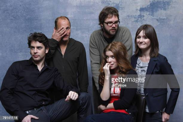 Actor Eduardo Noriega actor Woody Harrelson director Brad Anderson actress Kate Mora and actress Emily Mortimer at the Sky 360 by Delta Lounge...