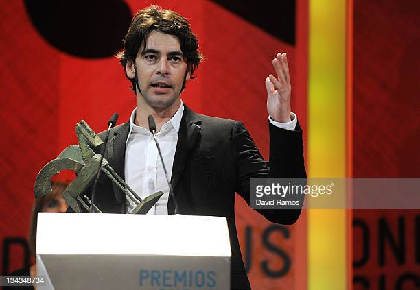 Actor Eduardo Noriega of Spain receives a special mention during the 2010 Onda Awards at the Theatre Liceu on November 19 2010 in Barcelona Spain