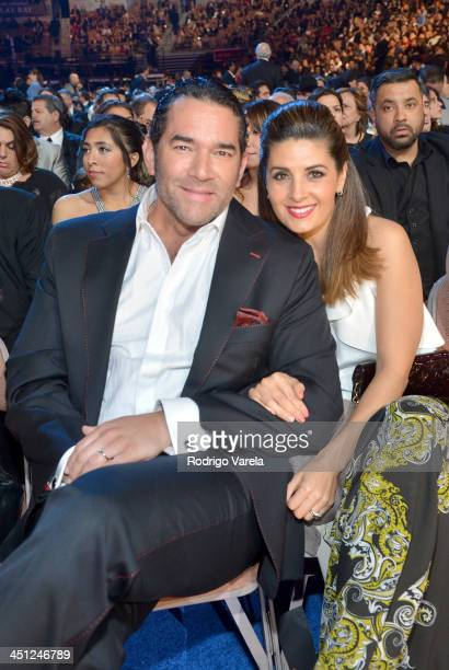 Actor Eduardo Santamarina and Mayrin Villanueva attends The 14th Annual Latin GRAMMY Awards at the Mandalay Bay Events Center on November 21 2013 in...