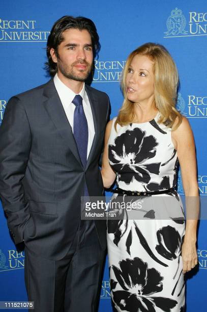 Actor Eduardo Verastegui and TV Personality Kathie Lee Gifford arrive at the 2nd Annual Candlelight Forum honoring Tim Conway held at the DGA Theater...