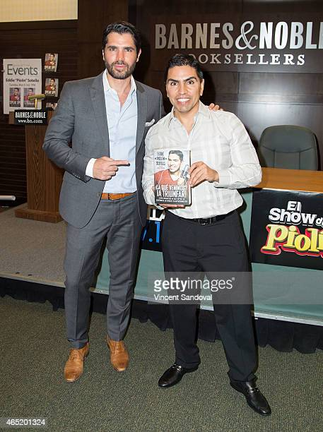"Actor Eduardo Verastegui attends radio DJ Eddie ""Piolin"" Sotelo book signing for ""SPEAK UP!: Finding My Voice Through Hope, Strength, And..."