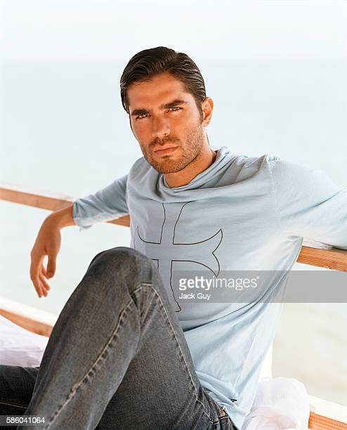 Actor Eduardo Verastegui is photographed for InTouch Weekly in 2003 in Los Angeles California