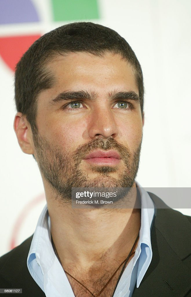 Actor Eduardo Verastegui poses in the press room at the 6th Annual Latin Grammy Awards at the Shrine Auditorium on November 3, 2005 in Los Angeles, California.