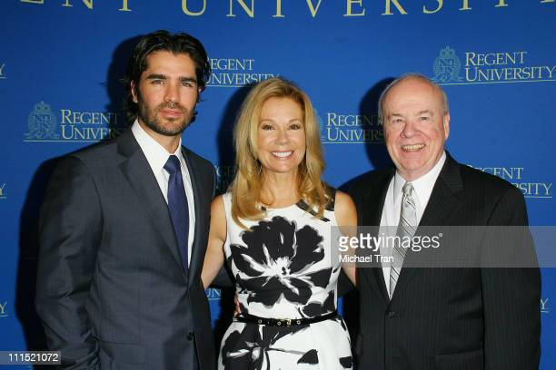 Actor Eduardo Verastegui, TV Personality Kathie Lee Gifford and honoree actor Tim Conway arrive at the 2nd Annual Candlelight Forum honoring Tim...
