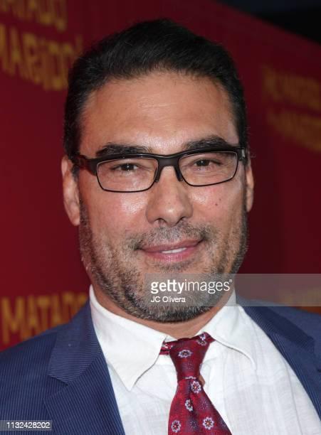 Actor Eduardo Yanez attends 'HE MATADO A MI MARIDO' Los Angeles Premiere at Harmony Gold Theatre on February 26 2019 in Los Angeles California