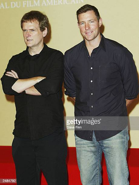Actor Edward Burns and Director James Foley attend the photocall for Confidence at the 29th American Film Festival of Deauville on September 11 2003...
