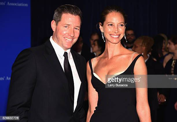 Actor Edward Burns and model Christy Turlington attend the 102nd White House Correspondents' Association Dinner on April 30 2016 in Washington DC