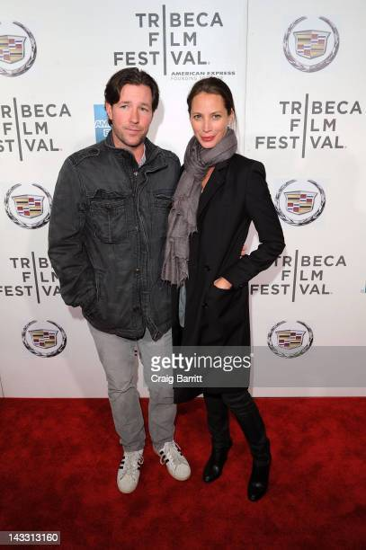 Actor Edward Burns and model Christy Turlington attend the Hysteria Premiere during the 2012 Tribeca Film Festival at the BMCC Tribeca PAC on April...