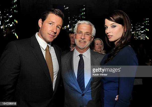 Actor Edward Burns Rob Friedman cochairman Lionsgate and actress Rachel Nichols pose at the after party for the premiere of Summit Entertainment's...