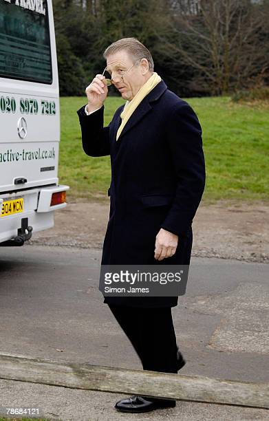 Actor Edward Fox arrives for the wedding of Billie Piper and Laurence Fox at the parish Church of St Mary on December 31 2007 in Easebourne West...