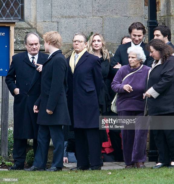 Actor Edward Fox attends the wedding of Billie Piper and Laurence Fox at the Parish Church of St. Mary on December 31, 2007 in Easebourne, West...