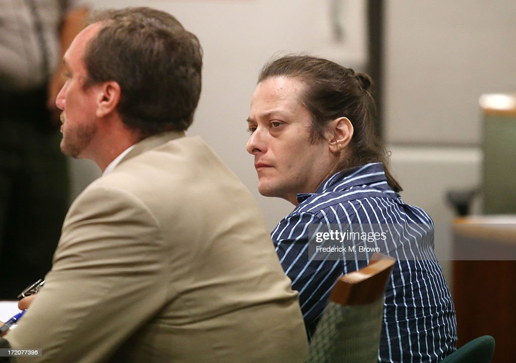 Actor Edward Furlong (R) and his attorney during Furlong's court appearance after being charged with assaulting his girlfriend July 1, 2013 in Los Angeles Superior Court in Los Angeles, California. If convicted on all charges Furlong could face up to four years in prison.