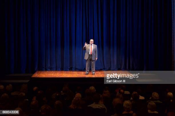 Actor Edward Gero portrays the legendary Antonin Scalia at the Pasadena Playhouse Presents 'The Originalist' at Pasadena Playhouse on April 13 2017...