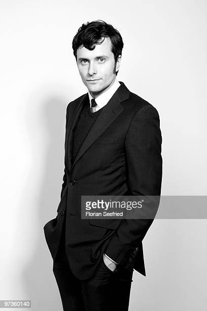 Actor Edward Hogg poses for a picture during the shooting stars portrait session during the 60th Berlin International Film Festival at Palmen Garden...