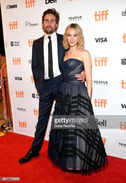 Actor Edward Holcroft and actress Sarah Gadon attend The World Premiere of the Limited Series 'Alias Grace' starring Sarah Gadon from Sarah Polley...