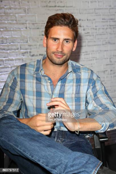 Actor Edward Holcroft from BBC Drama 'Gunpowder' poses for a photo during a panel discussion at BUILD London on October 20, 2017 in London, England.