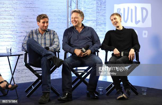 Actor Edward Holcroft Shaun Dooley and Robert Emms from BBC Drama 'Gunpowder' during a panel discussion at BUILD London on October 20 2017 in London...