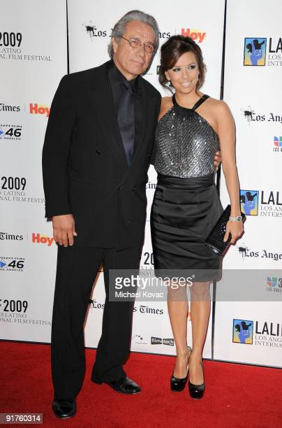 Actor Edward James Olmos and actress Eva Longoria Parker arrive at the 13th Annual Los Angeles Latino International Film Festival at Grauman's...