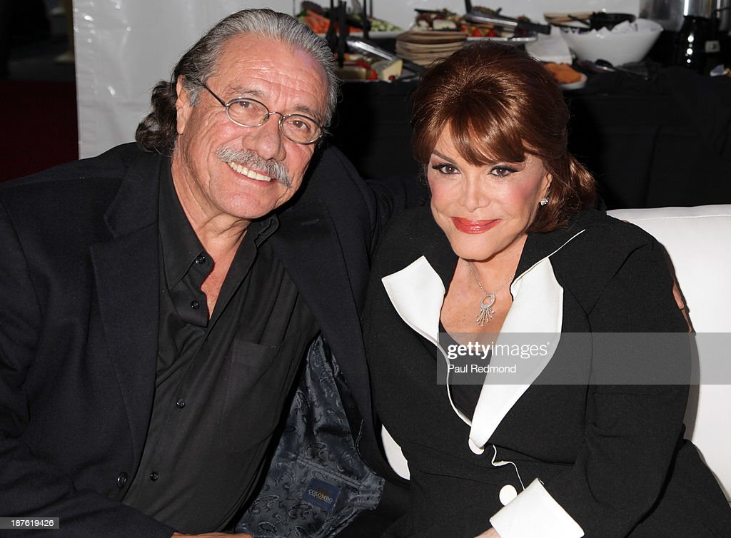 Actor Edward James Olmos and singer Connie Francis attend the Homeward Bound Telethon at American Legion Hall on November 10, 2013 in Los Angeles, California.