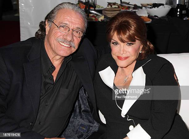 Actor Edward James Olmos and singer Connie Francis attend the Homeward Bound Telethon at American Legion Hall on November 10 2013 in Los Angeles...