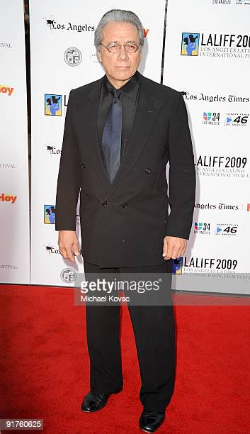 Actor Edward James Olmos arrives at the 13th Annual Los Angeles Latino International Film Festival at Grauman's Chinese Theatre on October 11 2009 in...