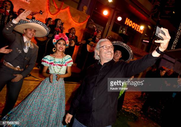 Actor Edward James Olmos arrives at the premiere of Disney Pixar's 'Coco' at the El Capitan Theatre on November 8 2017 in Los Angeles California