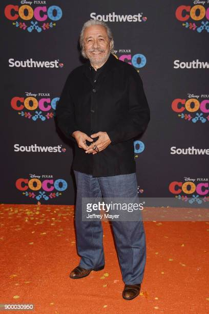 Actor Edward James Olmos arrives at the premiere of Disney Pixar's 'Coco' at El Capitan Theatre on November 8 2017 in Los Angeles California