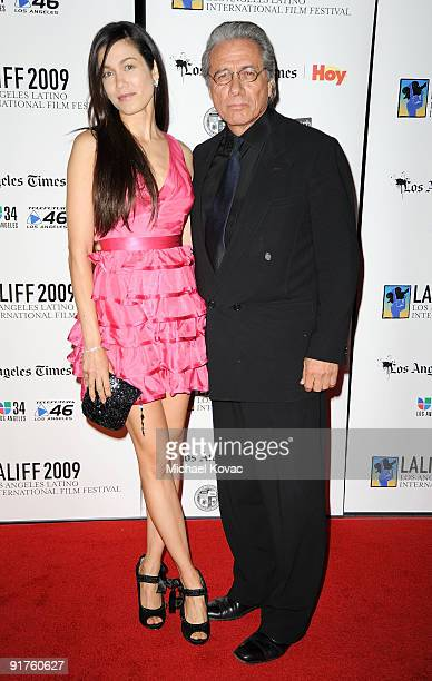 Actor Edward James Olmos arrives with girlfriend Lymari Nadal at the 13th Annual Los Angeles Latino International Film Festival at Grauman's Chinese...