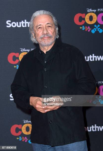 Actor Edward James Olmos attends the Disney Pixar's COCO premiere on November 8 in Hollywood California / AFP PHOTO / VALERIE MACON