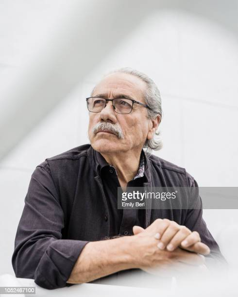Actor Edward James Olmos is photographed for New York Times on August 27 2018 in Culver City California