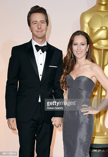 Actor Edward Norton and producer Shauna Robertson attends the 87th Annual Academy Awards at Hollywood Highland Center on February 22 2015 in...
