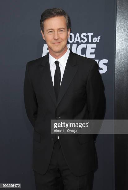Actor Edward Norton arrives for the Comedy Central Roast Of Bruce Willis held at Hollywood Palladium on July 14 2018 in Los Angeles California
