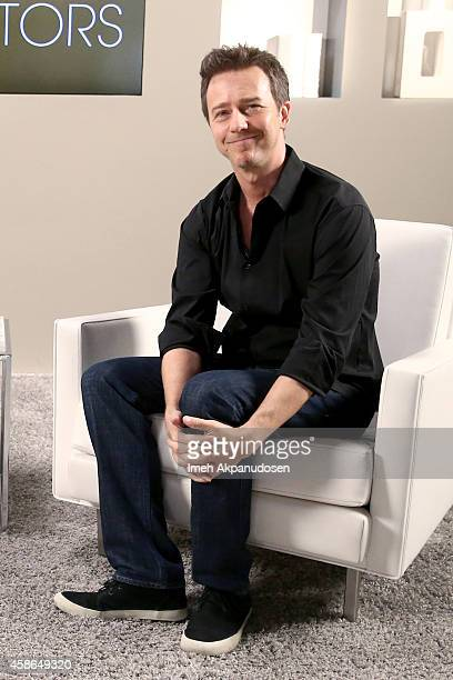 Actor Edward Norton attends day one of Variety Studio Actors On Actors presented by Samsung Galaxy on November 8 2014 in Los Angeles California