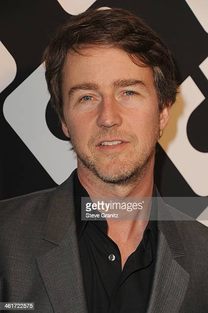 Actor Edward Norton attends Diane Von Furstenberg's 'Journey Of A Dress' Premiere Opening Party at Wilshire May Company Building on January 10 2014...