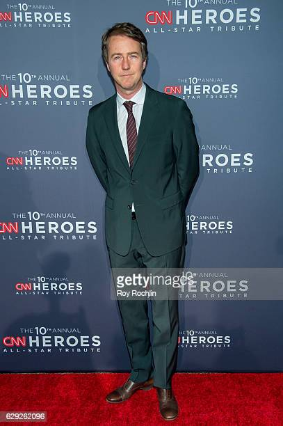 Actor Edward Norton attends the 10th Anniversary CNN Heroes at American Museum of Natural History on December 11 2016 in New York City