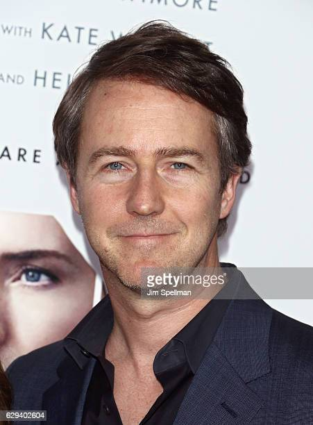 Actor Edward Norton attends the 'Collateral Beauty' world premiere at Frederick P Rose Hall Jazz at Lincoln Center on December 12 2016 in New York...