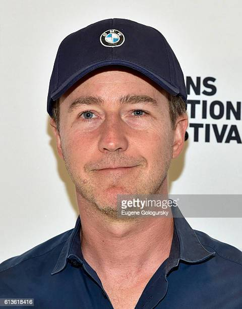 Actor Edward Norton attends the Conversation With Edward Norton during the Hamptons International Film Festival 2016 at East Hampton Middle School on...