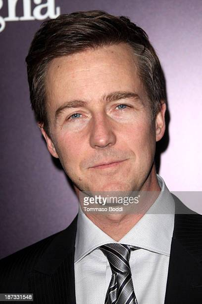 Actor Edward Norton attends the Ermenegildo Zegna boutique Rodeo Drive grand opening held at Ermenegildo Zegna Boutique on November 7 2013 in Beverly...
