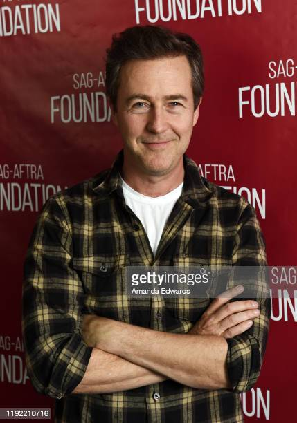 Actor Edward Norton attends the SAG-AFTRA Foundation Conversations with Edward Norton event at the SAG-AFTRA Foundation Screening Room on December...