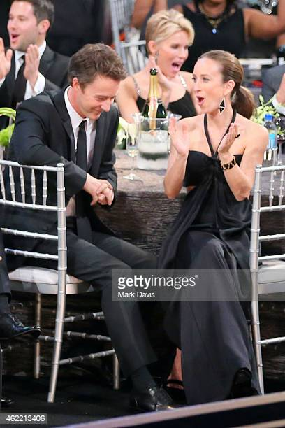 Actor Edward Norton attends TNT's 21st Annual Screen Actors Guild Awards at The Shrine Auditorium on January 25 2015 in Los Angeles California...