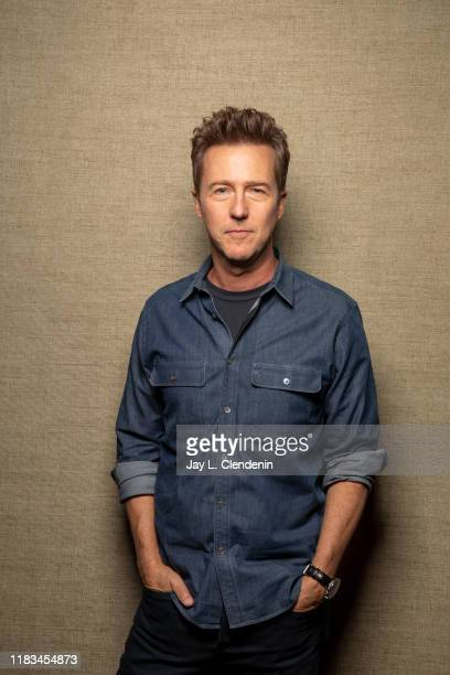 Actor Edward Norton from 'Motherless Brooklyn' is photographed for Los Angeles Times on September 9, 2019 at the Toronto International Film Festival...