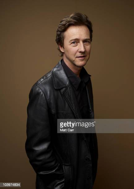 Actor Edward Norton from 'Stone' poses for a portrait during the 2010 Toronto International Film Festival in Guess Portrait Studio at Hyatt Regency...