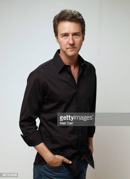 Actor Edward Norton from the film 'Leaves Of Grass' poses for a portrait during the 2009 Toronto International Film Festival at The Sutton Place...