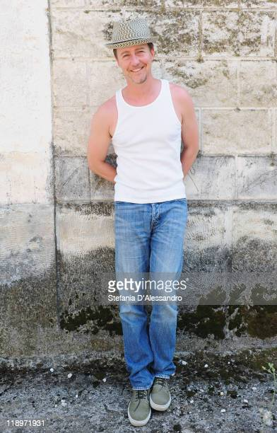 Actor Edward Norton poses for a portrait session during the 2011 Giffoni Experience on July 13 2011 in Giffoni Valle Piana Italy