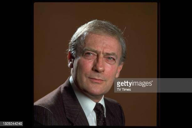 Actor Edward Woodward in character as David Callan in spy drama series Callan, circa 1981.