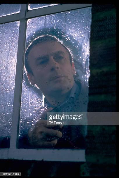Actor Edward Woodward in character as David Callan in spy drama series Callan, circa 1972.