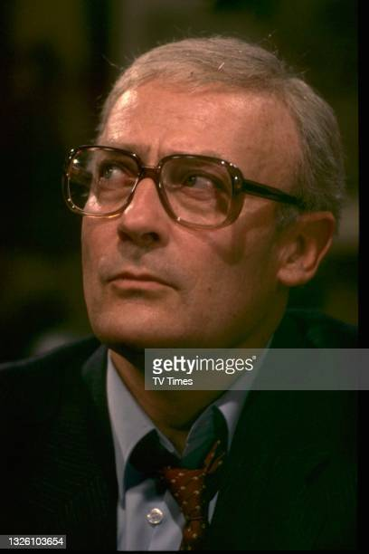 Actor Edward Woodward in character as David Callan in the television movie Wet Job, based upon the spy drama series Callan, circa 1981.